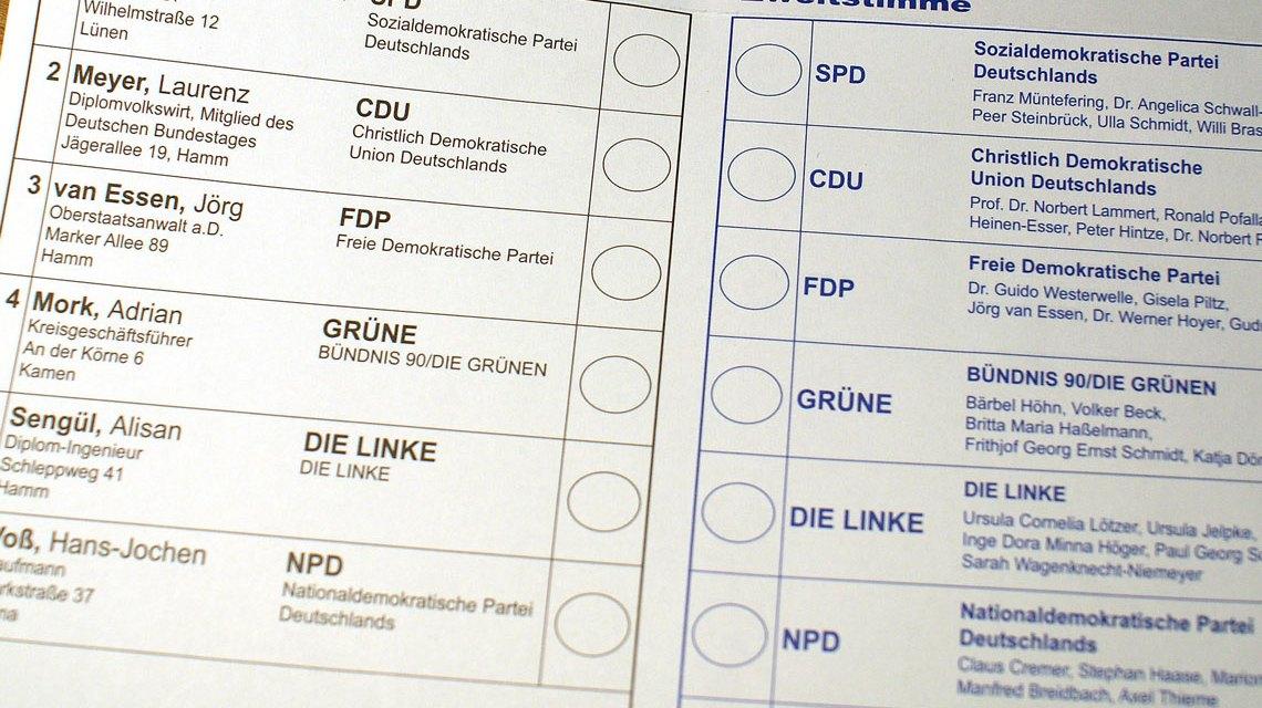 Stimmzellet zu der Bundestagswahl 2009. Bild: Awaya Legends // CC-BY-SA 2.0 / Flickr