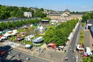 Blick übers Wilhelmstraßenfest am Freitagnachmittag. Archivbild: Vo lker Watschounek