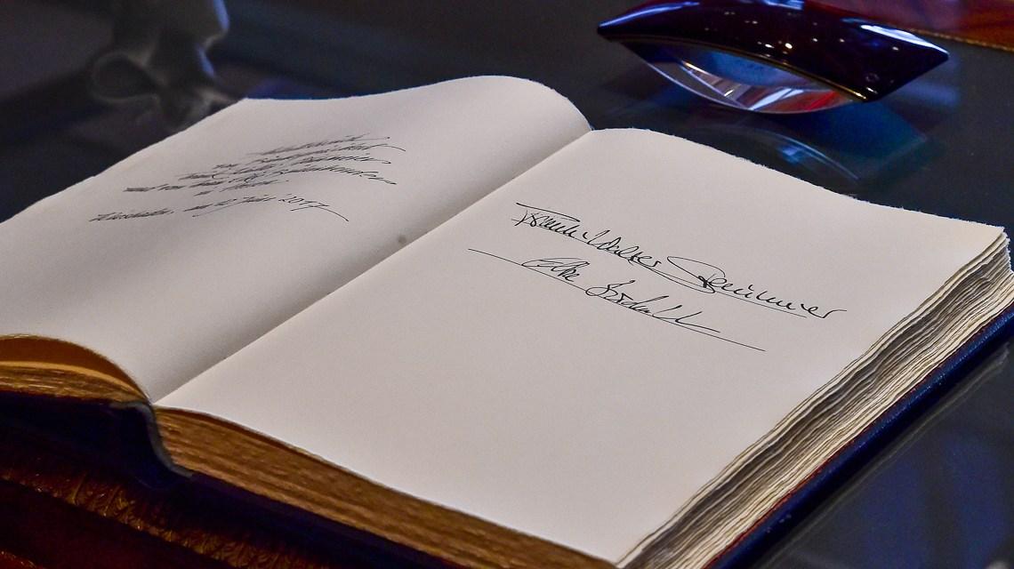 Bundespräsident Frank Walter Steinmeier in Wiesbaden