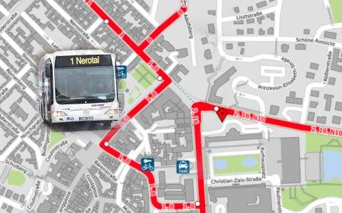 Wenn seine könoigliche Hoheit kommt werden Busse umgeleitet. Bild: Open Street / Volker Watschounek
