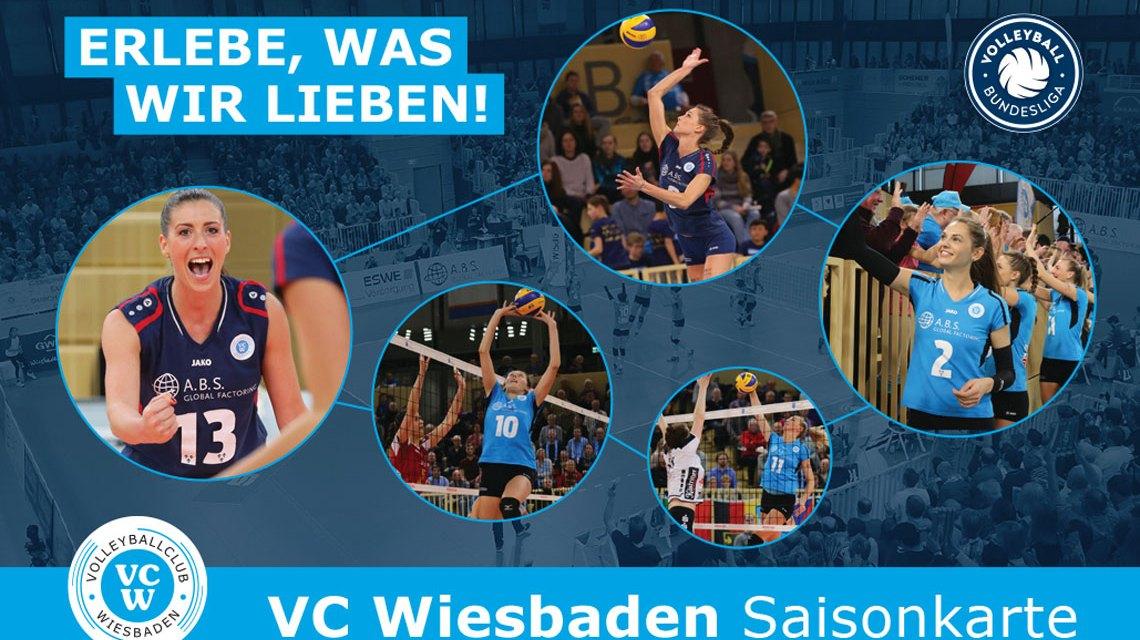 Saisonkarte des VC Wiesabden für die Saison 2017 / 2018. Bild: VCW