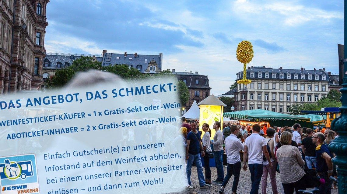 Zur Weinwoche mit dem Weinfestticket von ESWE Verkehr. Bild: Volker Watschounek