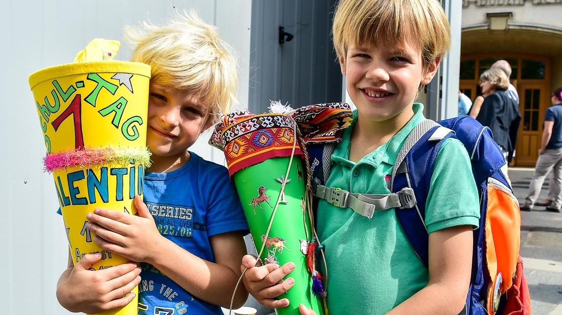 Erster Schultag an Wiesbadens Konrad Duden Grundschule
