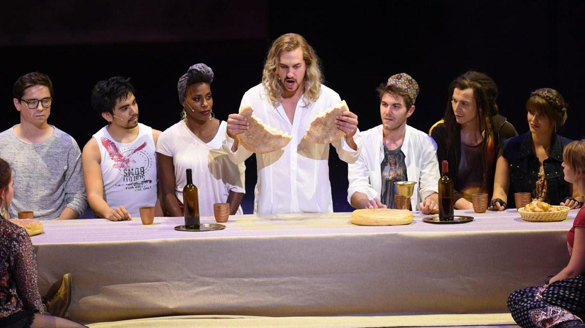 Das letzte Abendmahl im Musical ... Jesus Christ Superstar.Bild: Karl Monika Forster