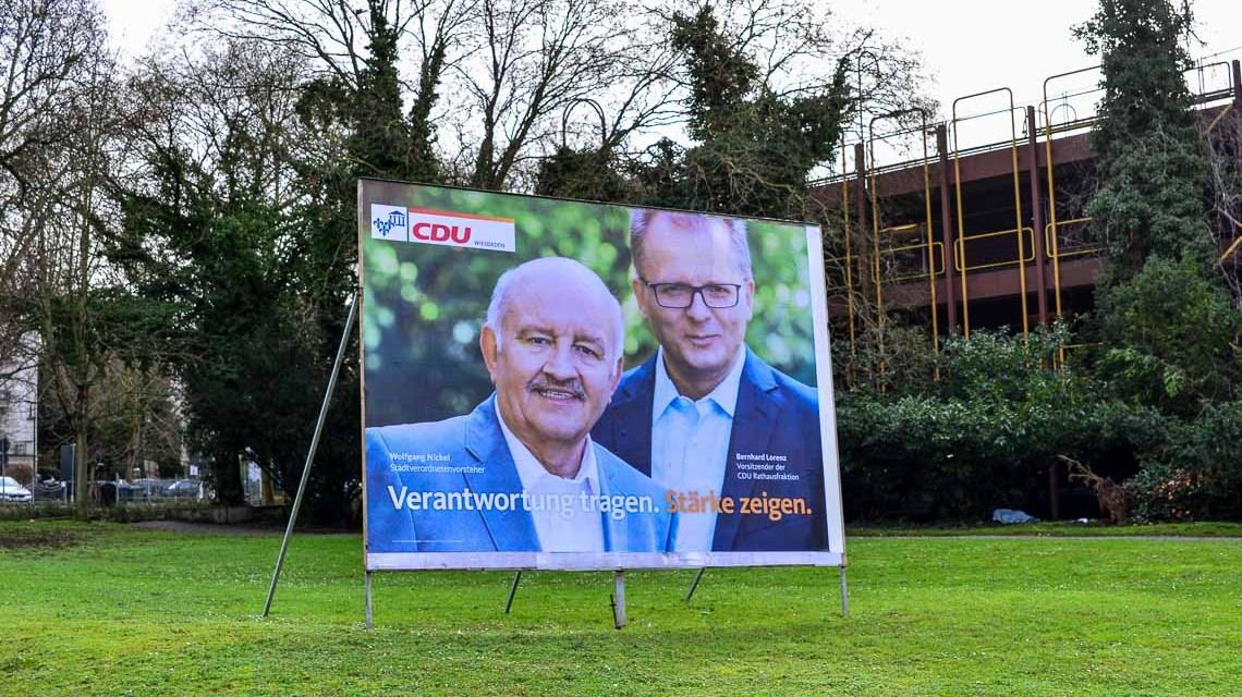 Wahlplakat der CDU. Bild: Volker Watschounek
