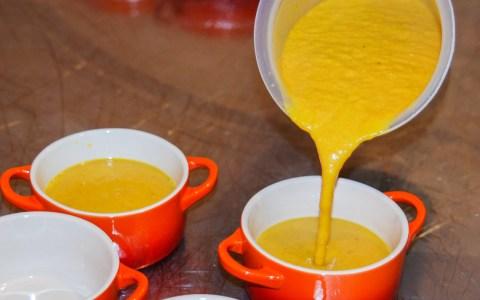 Kürbiscreme-Suppe. Bild: Volker Watschounek