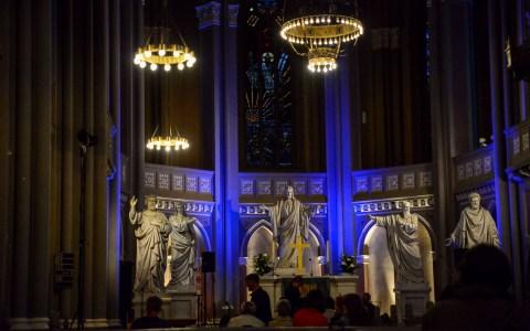 Nacht der Kirchen – Wiesbadens Kirchen öffnen ihre Tore und stellen sich vor. Im Build die Ringkirche: Bild: Volker Watschounek