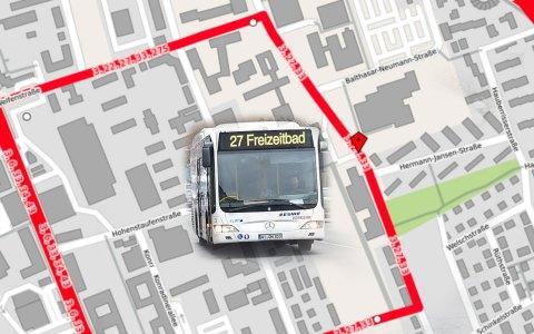 Die Buslinien 3, 27 und 33 werden ab Busumleitung am 17. Oktober umgeleitet.