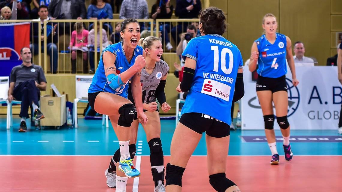 Der VC Wiesbaden steht im DVV-Pokal Halbfinale