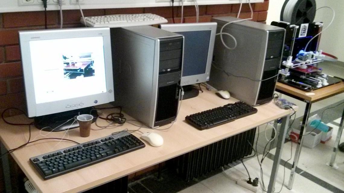 Typischer Computerraum 2015 an der Schule. ©2018 Sven Guckes