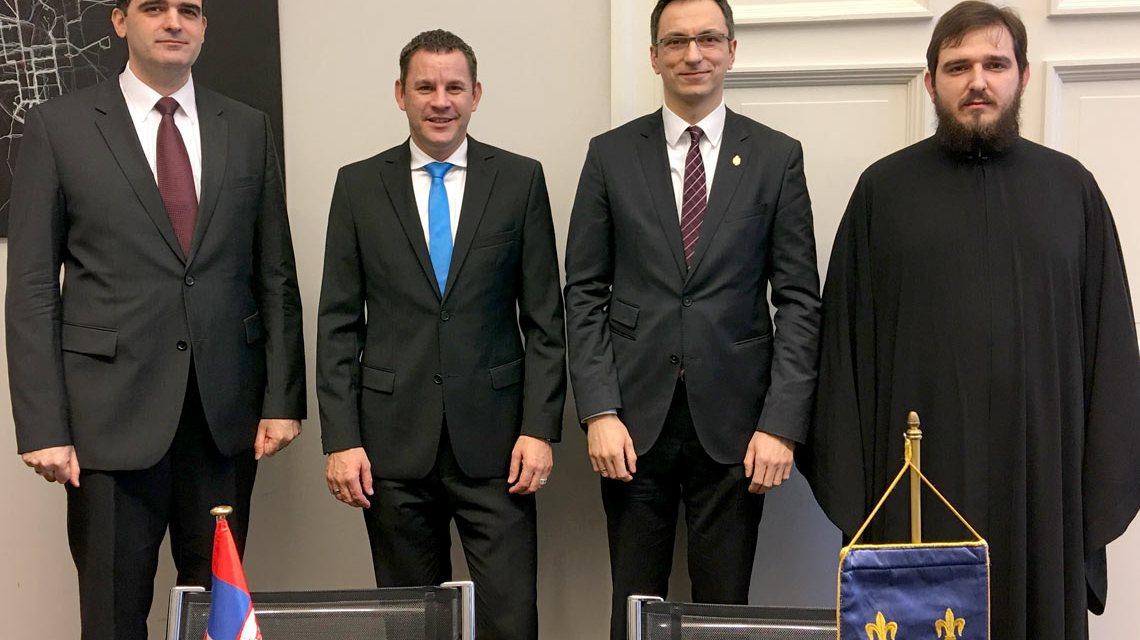 Oberbürgermeister Sven Gerich empfängt den Generalkonsul der Republik Serbien, Branko Radovanovic. ©2018 Stadt Wiesbaden