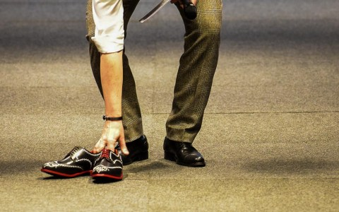 Schuhe machen, ein Handwer das immer noch gefragt ist. @2017 Joachim Sobek