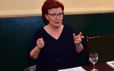 Heidemarie Wieczorek-Zeul, Bundesministerin für wirtschaftliche Zusammenarbeit und Entwicklung a. D., im Presseclub Wiesbaden