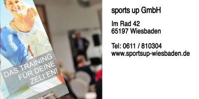 sports up GmbH Im Rad 42 65197 Wiesbaden Öffnungszeiten Montags bis freitags von 07:00 bis 23:00 Uhr und am Wochenende 09:00 bis 20:00 Uhr