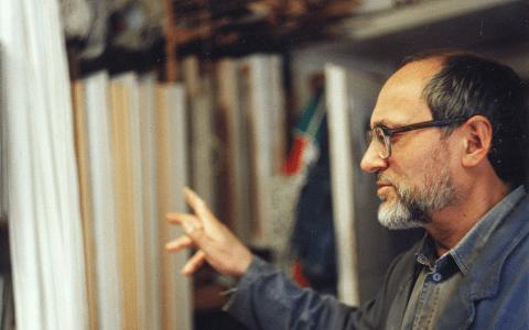 Roman Eihhorn in seinem Atelier ©2018 Wikipedia, Mitree - Eigenes Werk, CC BY-SA 3.0