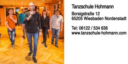 Tanzschule Hohmann   Borsigstraße 12   65205 Wiesbaden Nordenstadt   Telefon 06122 / 534 63   Internet www.tanzschule-hohmann.com