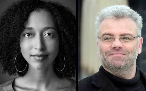 Michael Kibler und Melanie Raabe lesen beim Wiesbadener KrimiMärz ©2018 Michael Kibler und Melanie Raabe
