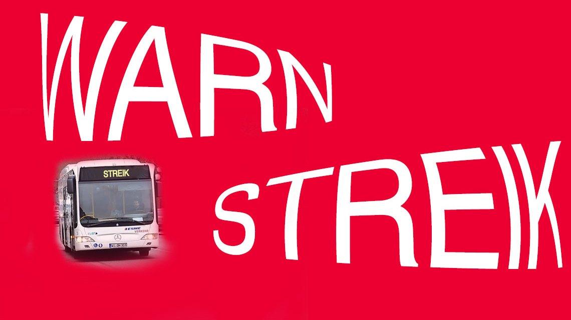 ESWE Verkehr, Busfahrer und Busfaherinnen gehen in den Streik. ©2018 Volker Watschounek