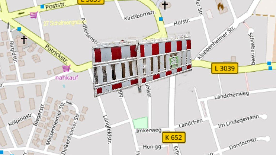 Zwischen Honiggasse und Venatorstraße wird die Schultheißstraße daher voll gesperrt. ©2018 OpenStreet Map