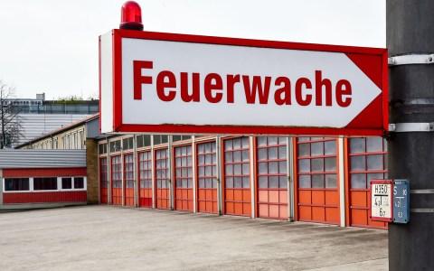 Feuerwache 1 der Berufsfeuerwehr Wiesabden.