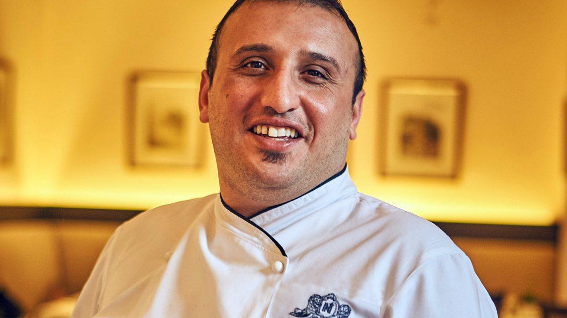 Salvatore Bella ist neuer Küchenchef im Restaurant Orangerie im Traditionshaus Nassauer Hof Wiesbaden. ©2018 Volker Watschounek
