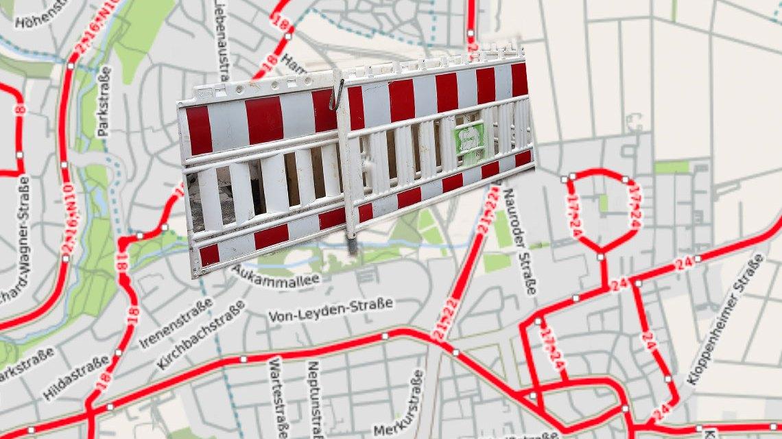 ESWE Versorgung informiert. Neue Gasleitungen in Wiesbaden Naurod. ©2018 OpenStreet / Volker Watschounek