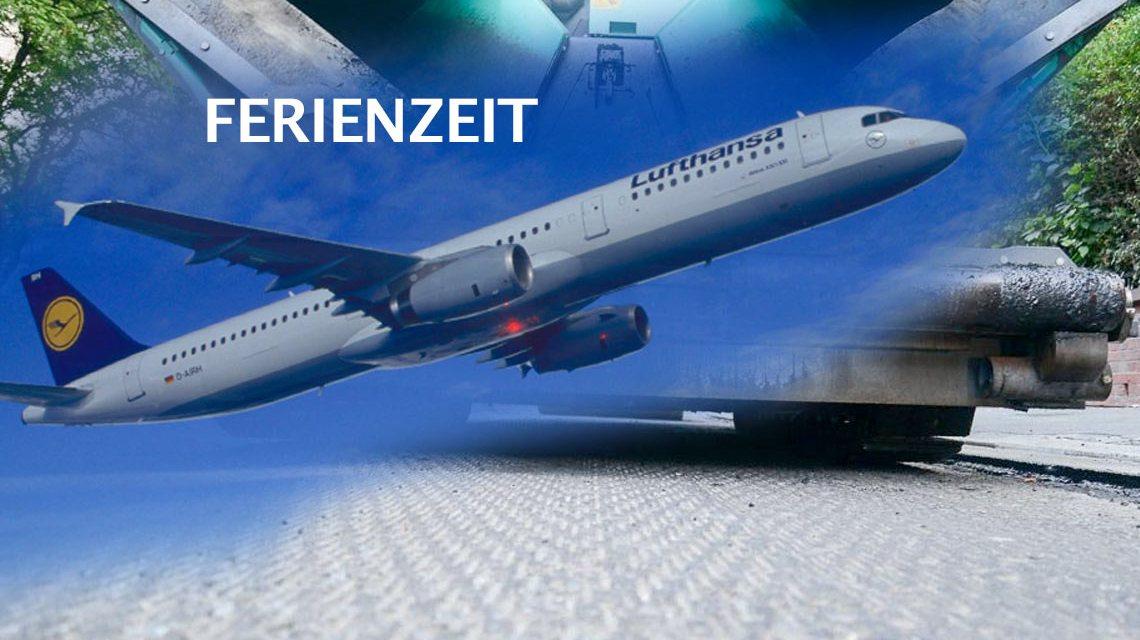 Beliebte Jahreszeit für Straßensanierungen. Ferienzeit. ©2018 Gerd Rebenich / Lufthansa / Volker Watschounek