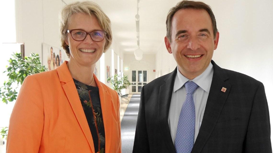 Bundesbildungsministerin Anja Karliczek zu Besuch bei Kultusminister Alexander Lorz. ©2018 Kultusministerum