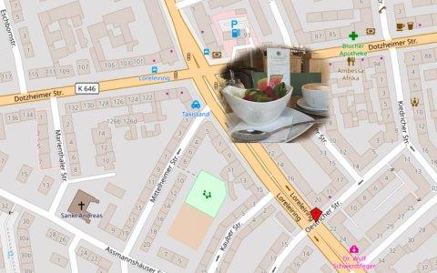 Einfach finden Cafe Latte Atr | Öffnungszeiten 9 bis 20 uhr | Dotzheimer Str. 114 | 65197 Wiesbaden