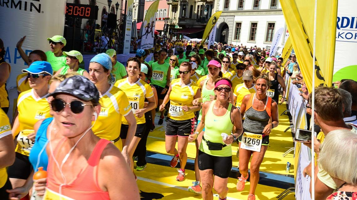 Deutsche Post Ladies Run zu Gast in Wiesbaden. @2018 Volker Watschounek