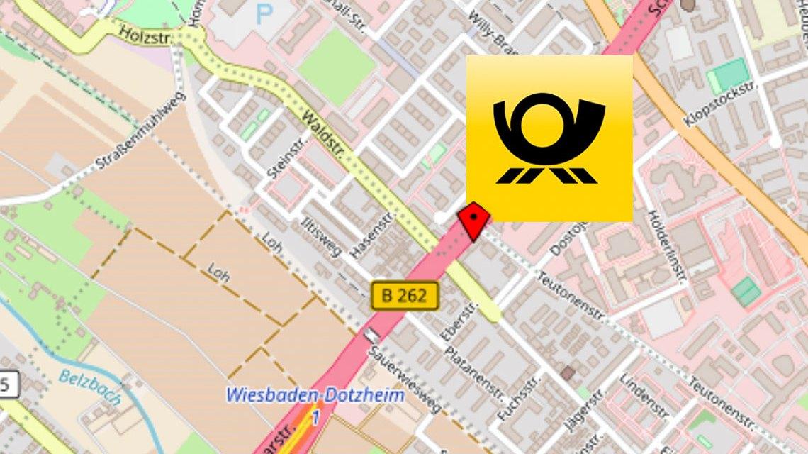 Neue alte Postfiliale in der Schiersteiner Straße. ©2018 OpenStreet / Deutsche Post