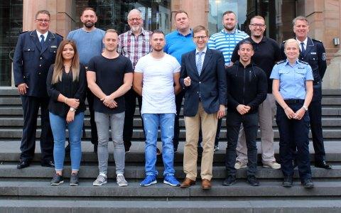 Stadtpolizei: Die ersten zehn neuen Stadtpolizisten sind eingestellt. ©2018 Landeshauptstadt Wiesbaden