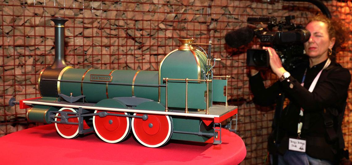 """Die Lok gilt als Sie ist das älteste Denkmal deutscher Eisenbahngeschichte und ein wertvolles Gut der Industriekultur. ©2018 Projektbüro """"Jäger der versunkenen Lok"""""""