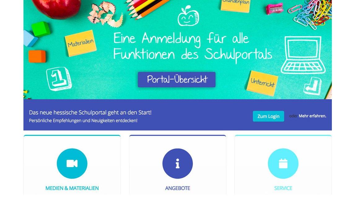 """Das neue """"Schulportal Hessen"""" startet ©2018 Land Hessen"""