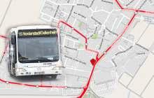 Sperrung der Konrad-Zuse-Straße am Montag, 8.Oktober, 8 Uhr. Betroffen sind die die Linien 15 und 37. ©2018 Openstreetmap
