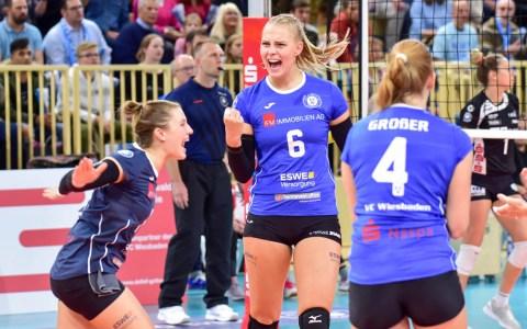DVV-Pokal |1. Runde | VC Wiesbaden - Schwarz-Weiß Erfurt | 3:0 ©2018 Volker Watschounek