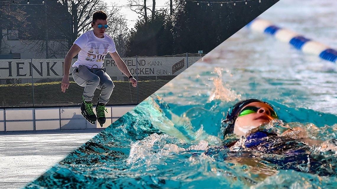 Schwimmen und Eislaufen an den Feertagen, Öffnungszeiten.