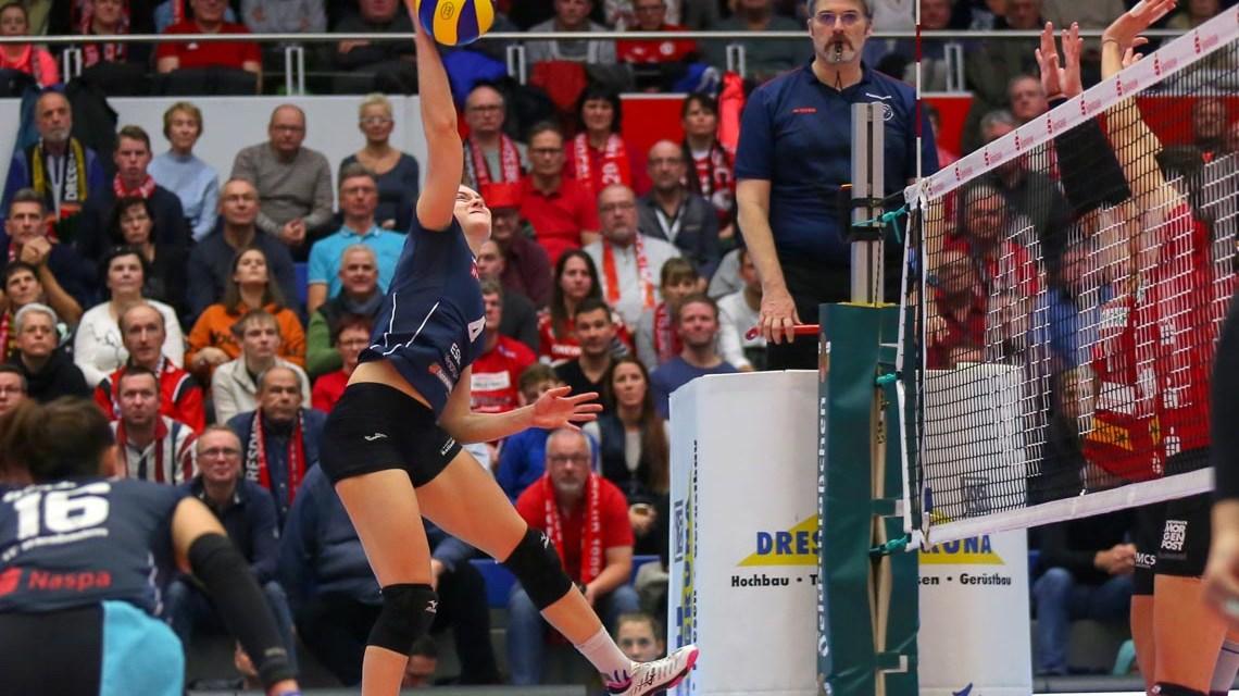 Volleyball Bundesliga Frauen | 2018.2019 | 9. Spieltag | Dresdener SC - VC Wiesbaden | 3:0 ©2018 Detlef Gottwald