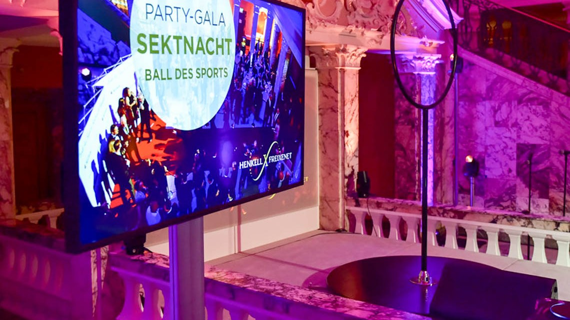 Sektnacht Special und Party-Gala zum Ball des Sports
