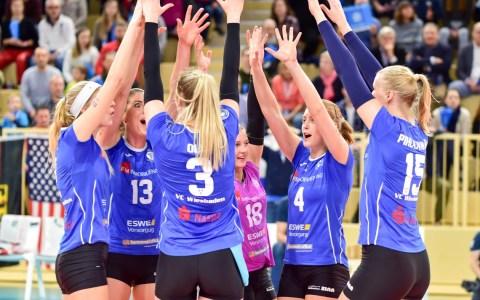 Volleyball Bundeslioga Damen   2018.2019   10. Spielztag { VCW -VCO   3 :0 ©2019 Volker Watschounek