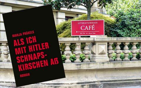 """Lesung mit Manja Präkels im Literaturhaus. Sie liest aus: """"Als ich mit Hitler Schnapskirschen aß"""" ©2019 Volker Watschounek / Verbrecher Verlag"""