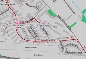 Fahrbahnabsenkung auf dem Klagenfurter Ring. ©2019 Openstreetmap