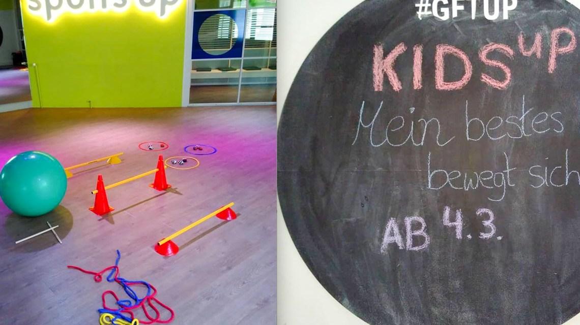 Programm kids up im sports up: Mein Kind bewegt sich.