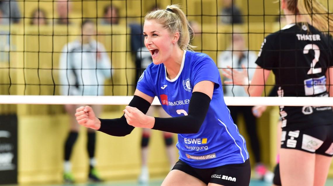 Archivbild:Volleyball Bundesliga Frauen | 2018/2019 | 18. Spieltag | VC Wiesbaden - Schwarz Weiß Erfurt | 3:1