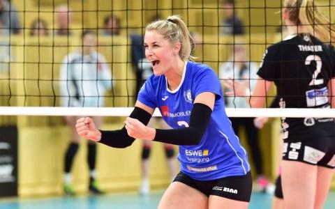 Volleyball Bundesliga Frauen   2018/2019   18. Spieltag   VC Wiesbaden - Schwarz Weiß Erfurt   3:1