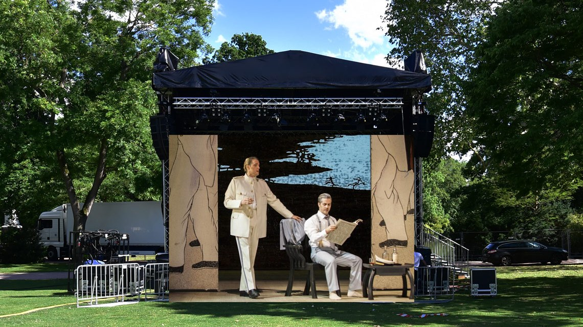 Madame Butterfly als Open Air Oper mit Opern Picknick am Warmen Damm. ©2019 Hessisches Staatstheater / Volker Watschounek