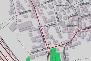 Straßensperrung rund um Ortsverwaltung Breckenheim ©2019 Openstreetmap