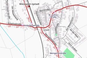 Igstadt, Weingartenstraße ©2019 Openstreetmap