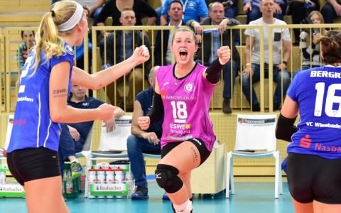 Volleyball-Bundesliga Damen | 2018.2019 | 7. Spieltag | VC Wiesbaden - Ladies in Black Aachen | 1:3 ©2018 Volker Watschounek