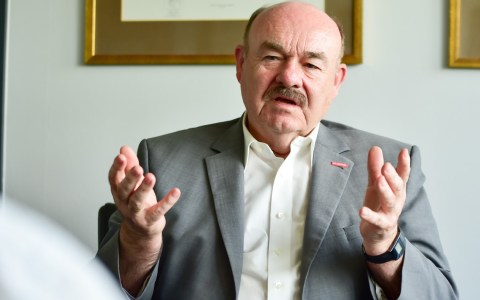 Klaus Repp, Präsident der Handwerkskammer. ©2019 Volker Watschounek